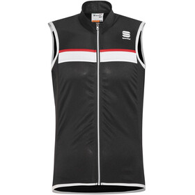 Sportful Pista Sleeveless Jersey Men black/white-red